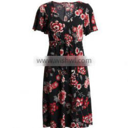 Black and Red Color Full Women Frock