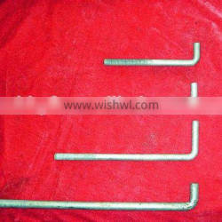 Q235 Carbon steel L type anchor bolt china supplier