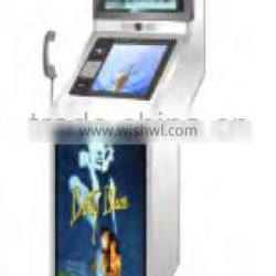 17inch Stand-alone dual screen touch Advertising display Kiosk