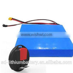 rechargeable protected 18650 lithium battery for electric scooter 60v 2ah
