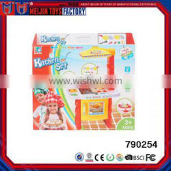 Kitchen Plastic Tableware Toys For Children's Games with light and music