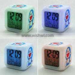 promotional gift electric clock small led color changing clock digital alarm clock