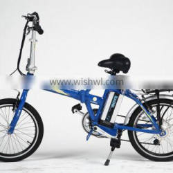 20 inch aluminum frame fast lithium battery powered electric folding bike