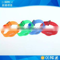 Ntag203,125khz,13.56mhz waterproof colorful nfc wristbands
