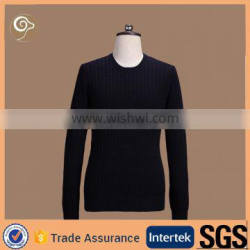 O neck 100% cotton knitted sweater