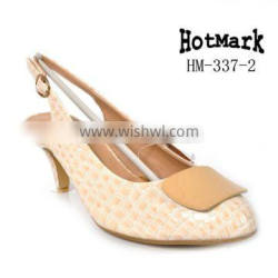 Popular Pump fashion shoes for women italy hot product style club shoe beautiful party low heels