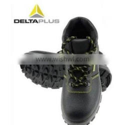 Deltaplus buffalo leather winter anti-cold high-cut anti-static safety shoes