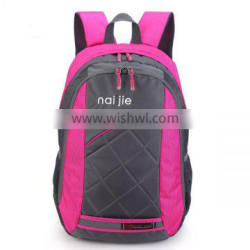 Outdoor sports waterproof hiking bag polyester and nylon backpack