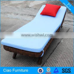 Wicker Furniture Patio Chaise Lounger