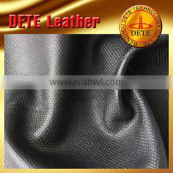 raw materials grid garment leather from China wholesale faux leather fabric