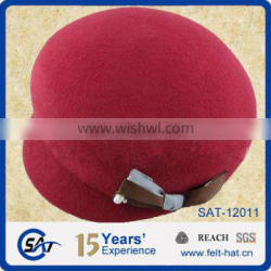quality pure wool beret cap with bowtie