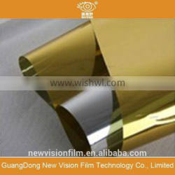 Gold silver color changing solar control building solar tint film for window glass