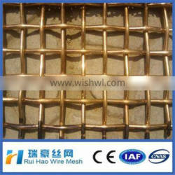 8*8mesh Strong Structure Heavy Duty Brass Crimped Wire Mesh