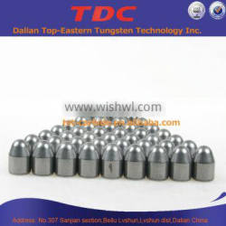 TET carbide buttons for rock drilling bits