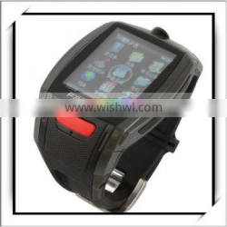 New Style LCD Touch Screen Watch Mobile Phone With GPRS Black