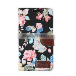 elegant Flower Pattern Style Leather Case For sony Xperia c4 With Stand