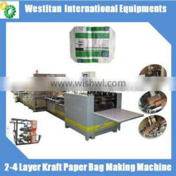 2-4 Layer Kraft Paper Bag Making Machine/production line for Valve bags