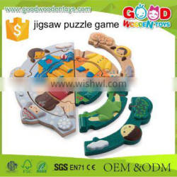 Yunhe Factory Direct Sale Weather Match Dress Up Kids Educational Toy Puzzles Set