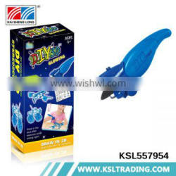New items plastic toy kids play game set diy 3d drawing pen