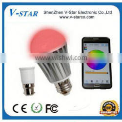 Cheapest remote control transmitter support ios/android made in china, Bluetooth Led Light Bulb, Bluetooth Led Bulb