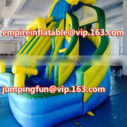 Commercial kids inflatable water slide, inflatable slide water slide for kids ID-SLM056