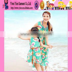 2015 Summer Beach Family Dress Mommy And Daughter Family Dress