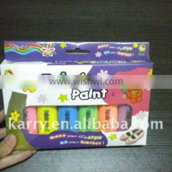 6color 2ml fabric painting designs for suits