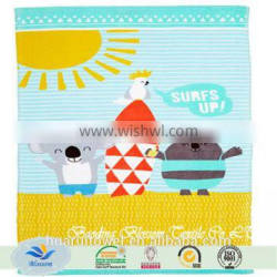 china supplier good quality cartoon printed 100% cotton hand towels