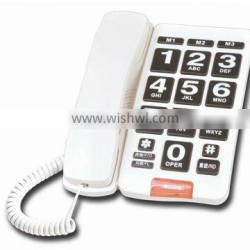 Senior Phone, big button telephone, new style, corded phone, Flash, Hands free. OEM customize.
