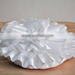 2016 New spring coming satin ruffled flouncing wedding ring bearer romantic Event Party Supplies pure ivory ribbon ring pillow
