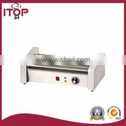 stainless steel electric hot dog roller grill