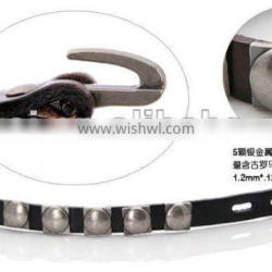 retro fashion western style 1 inch leather bracelet with rivets