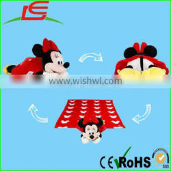 hot sleeping mat pillow stuffed toy 3 in 1 plush minnie mouse doll