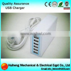 High Quality USB Smart Charger, Universal Travel Charger, 6 Port USB Charger