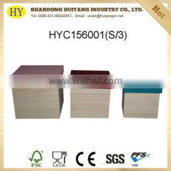 FSC custom natural wooden shoe box with color painted lid
