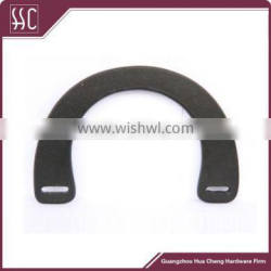 China black wooden handle,new design wooden material handle for handbag,top layer wholesale