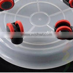 removable flower pot tray with roller