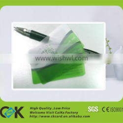 Custom eco-friendly bendable plastic transparent card with full color printing