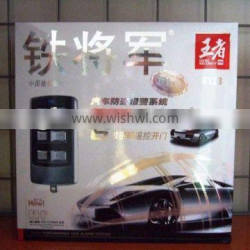 one way starline anti-hijacking easy car alarm system 6123 with remoter trunk release