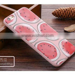 3D Custom Printed Production summer strawberry wattermelon TPU Cell Phone Case for iPhone 6 Phone Case