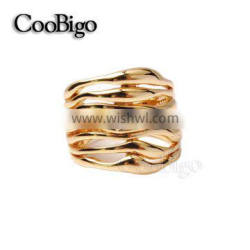 Fashion Jewelry Zinc Alloy Rhinestone Gold Plated Ring Ladies Wedding Party Show Gift Dresses Apparel Promotion Accessories