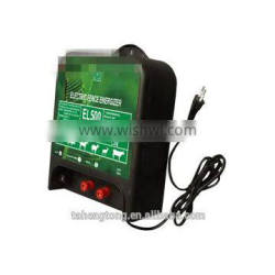 Easy operate electric energizer for farm fence