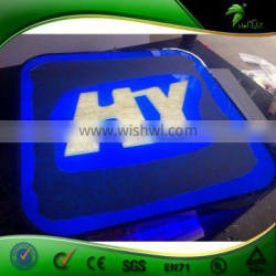 Hot sale Acrylic cube board for advertising with light