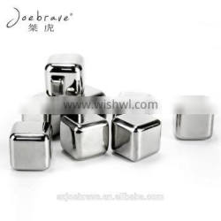 Square Shape Reusable Stainless Steel Ice Cube, Whiskey Chiller Stone