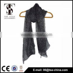 2014 new style of plain chiffon scarf for women