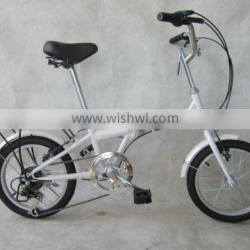16 Inch Aluminium Alloy Folding Bike with RS35-6 Speed Shifter