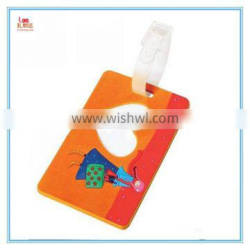 2015 hot selling promotional colorful silicone luggage tag, factory supply soft pvc luggage tag