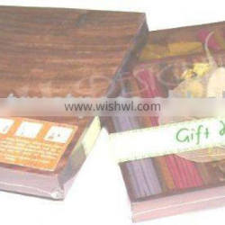 Decorative HANDMADE INCENSE STICK WOODEN GIFT PACK