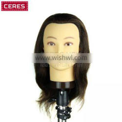 factory outlet wholesale cheap human hair training mannequin head for hairdressing school