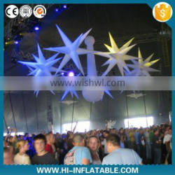 stage decoration and supply lights inflatable star with led lights for event decoration